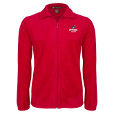Fleece Full Zip Red Jacket-Primary Athletics Mark