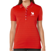 Ladies Callaway Opti Vent Red Polo-Mitchell College Vertical Logo