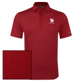 Columbia Red Omni Wick Sunday Golf Polo-Mitchell College Vertical Logo