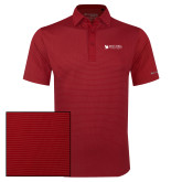 Columbia Red Omni Wick Sunday Golf Polo-Mitchell College Horizontal Logo
