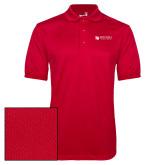 Red Dry Mesh Polo-Mitchell College Horizontal Logo