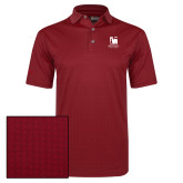 Callaway Red Jacquard Polo-Mitchell College Vertical Logo