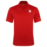 Columbia Red Omni Wick Drive Polo-Mitchell College Vertical Logo