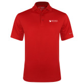 Columbia Red Omni Wick Drive Polo-Mitchell College Horizontal Logo