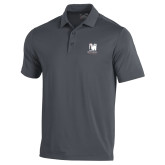 Under Armour Graphite Performance Polo-Mitchell College Vertical Logo