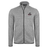 Grey Heather Fleece Jacket-Primary Athletics Mark
