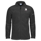 Columbia Full Zip Charcoal Fleece Jacket-Mitchell College Vertical Logo