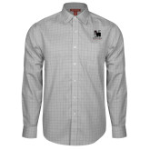 Red House Grey Plaid Long Sleeve Shirt-Mitchell College Vertical Logo