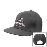 Charcoal Flat Bill Snapback Hat-Primary Athletics Mark