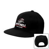 Black Flat Bill Snapback Hat-Primary Athletics Mark