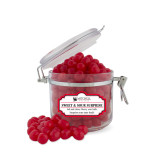 Sweet & Sour Cherry Surprise Small Round Canister-Mitchell College Vertical Logo