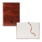 Fabrizio Brown Soft Cover Journal-Mitchell College Vertical Logo Engraved
