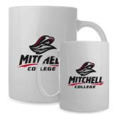 Full Color White Mug 15oz-Primary Athletics Mark