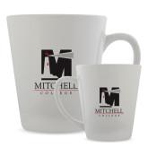 Full Color Latte Mug 12oz-Mitchell College Vertical Logo
