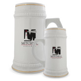 Full Color Decorative Ceramic Mug 22oz-Mitchell College Vertical Logo