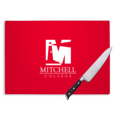 Cutting Board-Mitchell College Vertical Logo