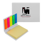 Micro Sticky Book-Mitchell College Vertical Logo