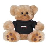 Plush Big Paw 8 1/2 inch Brown Bear w/Black Shirt-Mitchell Mariners Wordmark