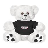 Plush Big Paw 8 1/2 inch White Bear w/Black Shirt-Mitchell Mariners Wordmark