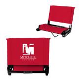 Stadium Chair Red-Mitchell College Vertical Logo