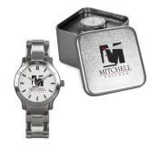 Mens Stainless Steel Fashion Watch-Mitchell College Vertical Logo