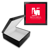 Ebony Black Accessory Box With 6 x 6 Tile-Mitchell College Vertical Logo