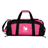 Tropical Pink Gym Bag-Mitchell College Vertical Logo