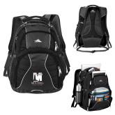 High Sierra Swerve Black Compu Backpack-Mitchell College Vertical Logo