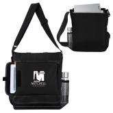 Impact Vertical Black Computer Messenger Bag-Mitchell College Vertical Logo