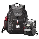 High Sierra Big Wig Black Compu Backpack-Mitchell College Vertical Logo