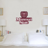 2 ft x 2 ft Fan WallSkinz-Bear Head Missouri State Stacked