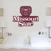 3 ft x 3 ft Fan WallSkinz-Bear Head Missouri State Stacked