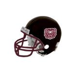 Riddell Replica Black Mini Helmet-Bear Head