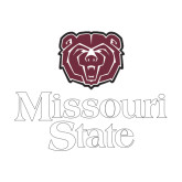 Medium Decal-Bear Head Missouri State Stacked, 8 inches wide