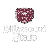 Large Decal-Bear Head Missouri State Stacked, 12 inches wide