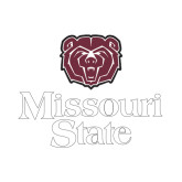 Small Decal-Bear Head Missouri State Stacked, 6 inches wide