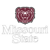 Extra Large Decal-Bear Head Missouri State Stacked, 18 inches wide