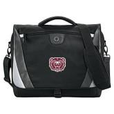 Slope Black/Grey Compu Messenger Bag-Bear Head