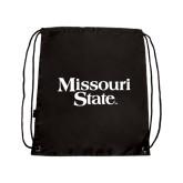 Black Drawstring Backpack-Missouri State