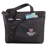 Excel Black Sport Utility Tote-Bear Head Missouri State Stacked