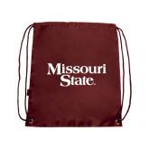 Maroon Drawstring Backpack-Missouri State