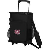 30 Can Black Rolling Cooler Bag-Bear Head