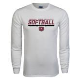 White Long Sleeve T Shirt-Missouri State University Volleyball Stencil
