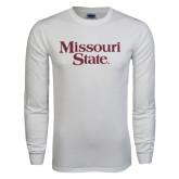 White Long Sleeve T Shirt-Missouri State