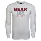 White Long Sleeve T Shirt-Bear Up!
