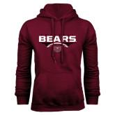 Maroon Fleece Hoodie-Bears Football Stacked