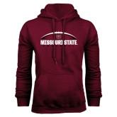 Maroon Fleece Hoodie-Missouri State Football w/ Ball