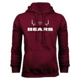 Maroon Fleece Hoodie-Bears Football w/ Field