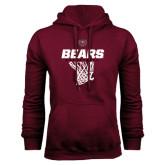 Maroon Fleece Hoodie-Bears Basketball Hanging Net
