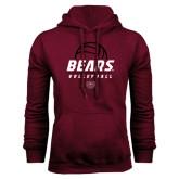Maroon Fleece Hoodie-Bears Volleyball Stacked